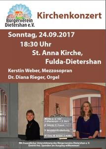 Kirchenkonzert 24.09.17 St. Anna Kircher Dietershan